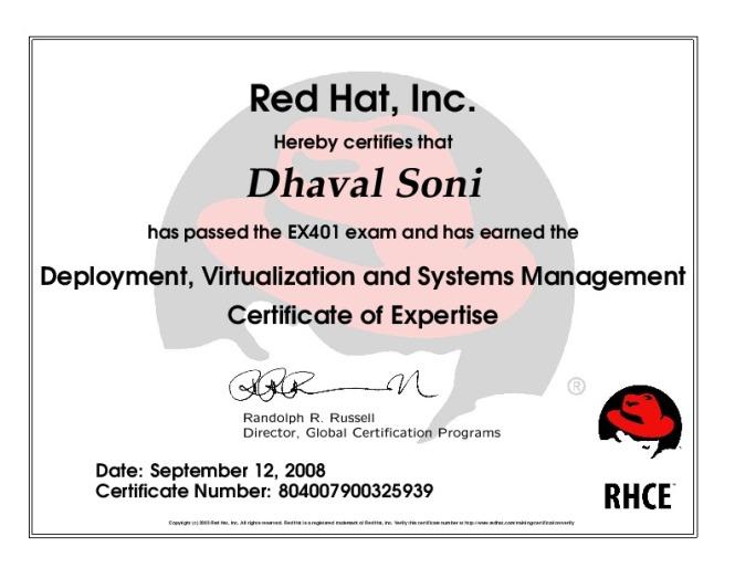 RH Certificate..