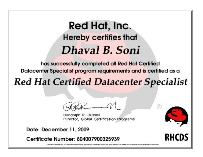 RHCSS Certificate..